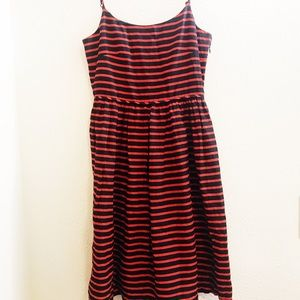J Crew mini dress red and navy blue size 0